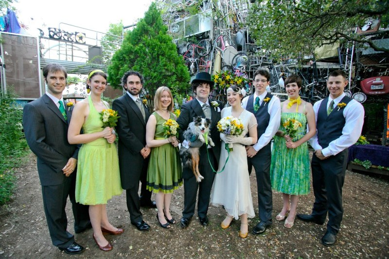 Junkyard wedding