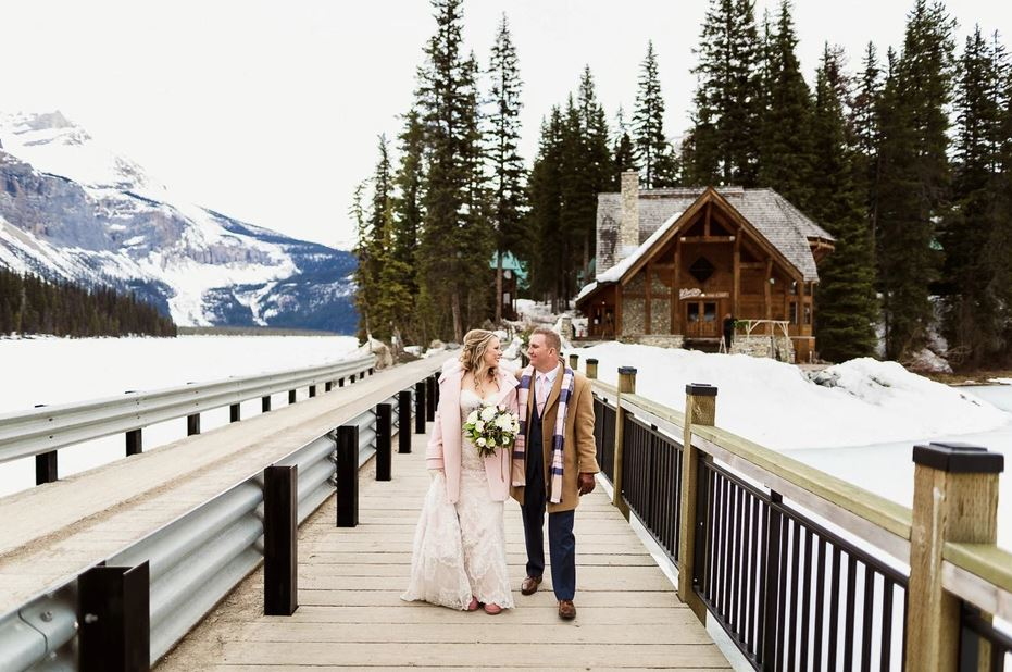 Beautiful Winter Wedding at Emerald Lake by James Melia Photography