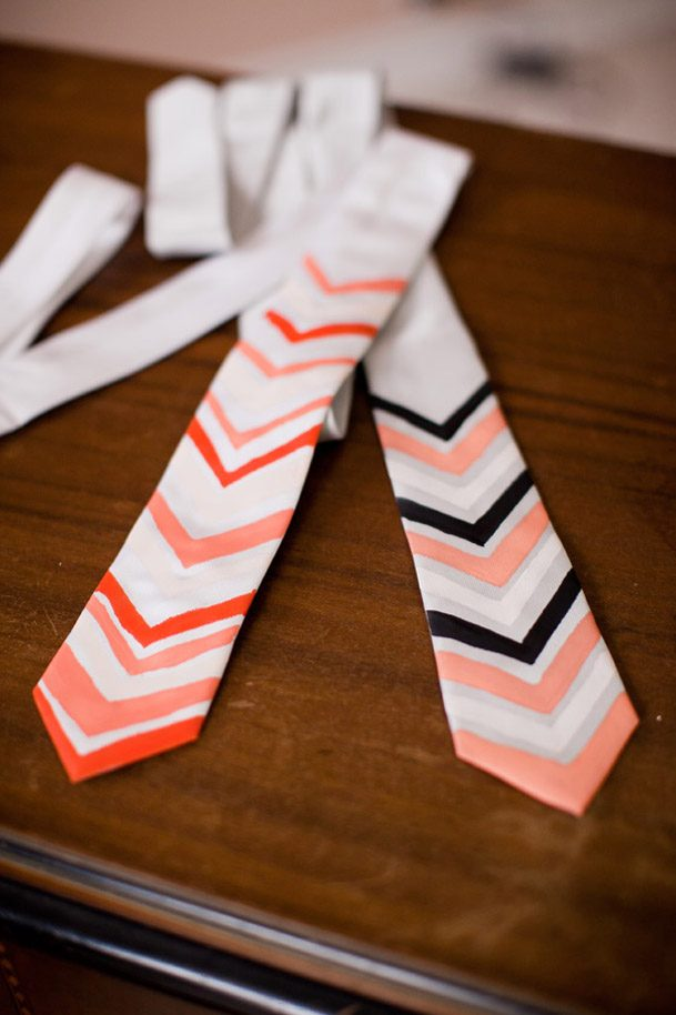 DIY Project Chevron Painted Ties