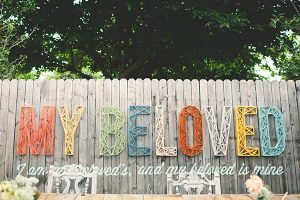 Modern Typography String Backdrop