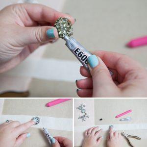 DIY Project Rhinestone Bridal Sash