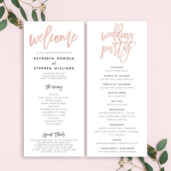 My DIY Wedding Programs