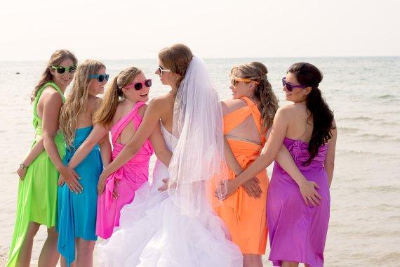 neon-bridesmaid-dresses