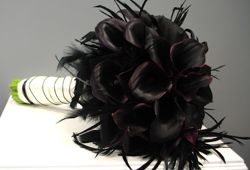Unique Black Bouquets